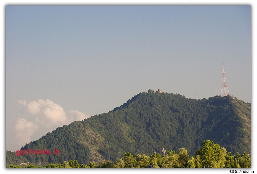 Hill by the side of Dal Lake Srinagar