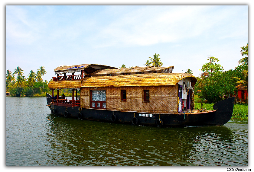 Some houseboats have upper deck to site and enjoy