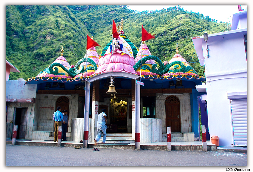 Temple on the way to Manali by the side of road