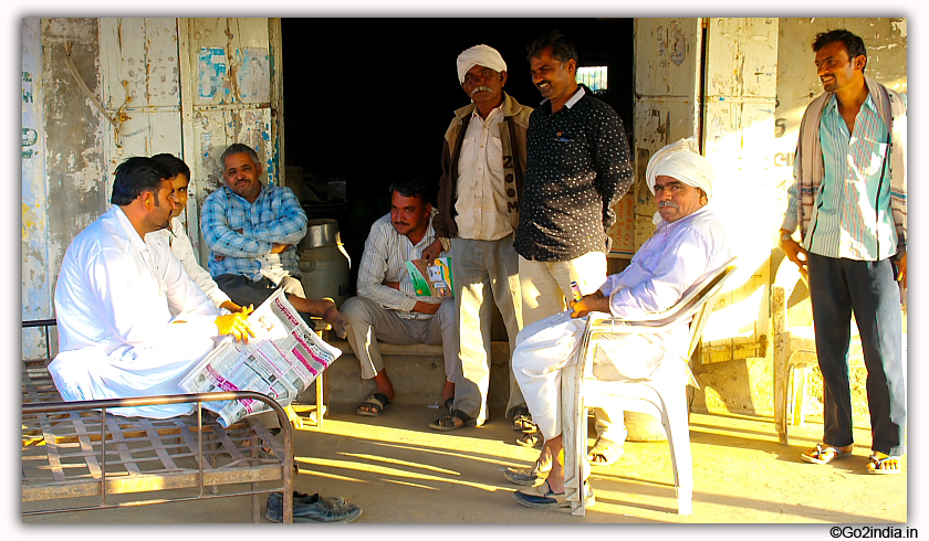 Villagers in Gujarat assembled at a point
