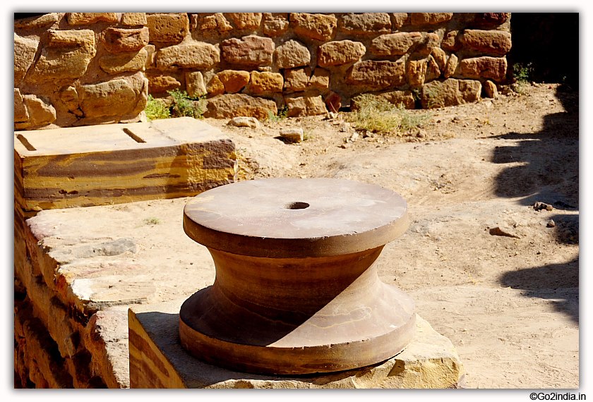 Base to support Pillars at Dholavira excavated site