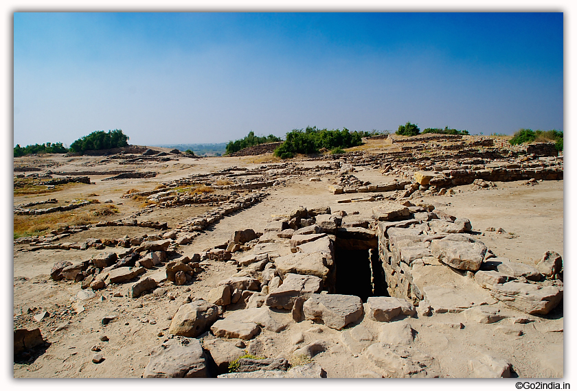 Dholavira excavated site at Kutch Gujarat